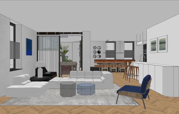 Minimalisisch penthouse Den Bosch